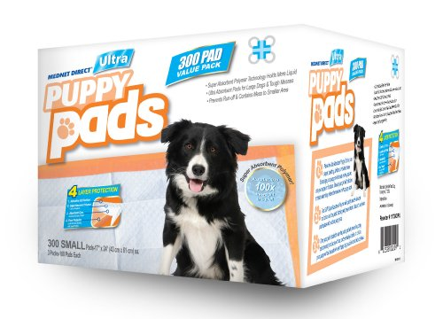 These ULTRA puppy pads from Mednet Direct are ideal for all size dog breeds including, Terriers, Spaniels, Bulldogs, and Sheepdogs. Available in several case pack sizes to provide you with maximum value! Each medium puppy pad can absorb up to one full cup of bestgfilegj.gqs: