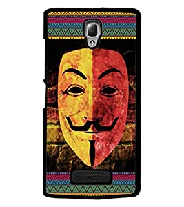 PrintDhaba Vendata Mask D-5686 Back Case Cover for LENOVO A2010 (Multi-Coloured)