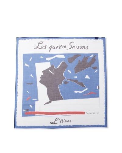 "Yves Saint Laurent Women's ""L'Hiver"" Printed Cotton Scarf, Multi"