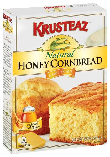 Krusteaz Natural Honey Cornbread & Muffin Mix, 15-Ounce Boxes (Pack of 12)