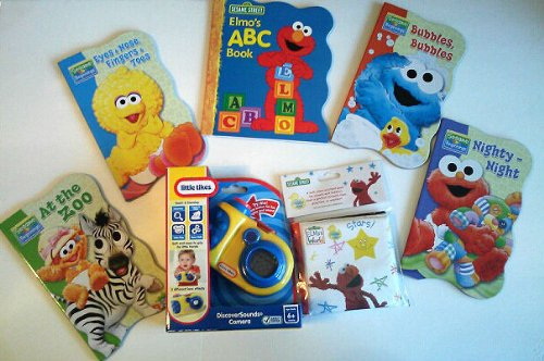 Bundle - 7 Items: See And Sound Little Tikes Discoversounds Camera Sesame Street Books front-1079245