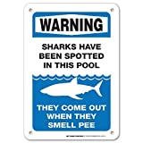 Warning Sharks Have Been Spotted in This Pool Sign - 10