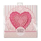 Doiles Paper Lace Crochet Look Doily Set of 24 Three Assorted Styles Hearts and Florals