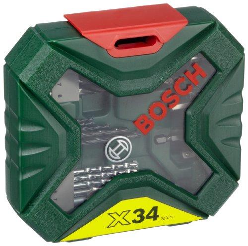 Bosch 2 607 010 608 - Maletín X-Line de 34 unidades para taladrar y atornillar - 172 x 46 x 164