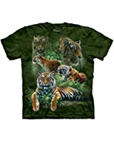 Jungle Tigers Unisex Adult T-Shirt The Mountain