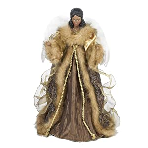 Amazon.com: Kurt Adler 16-Inch African American Angel in Brown and ...
