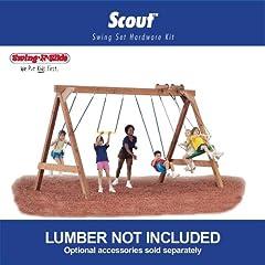 Scout Custom Ready-to-Build Swing Set Kit by Swing-N-Slide