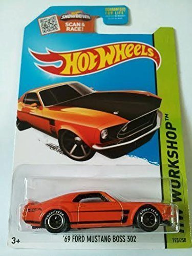 Hot Wheels, 2015 HW Workshop, '69 Ford Mustang Boss 302 [Orange] Die-Cast Vehicle #195/250 - 1