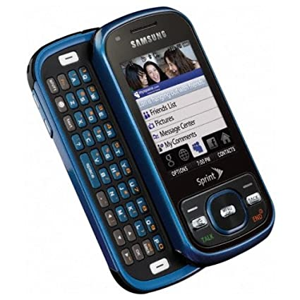 Amazon.com: Samsung Exclaim M550 Blue No Contract Sprint Cell ...
