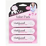 Hollywood Fashion Tape Clothing Double-Stick Strips (3-Pack), 108 Strips