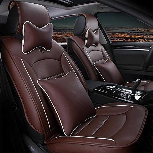 Oroyal Universal Fit Car Seat Cover Set Top Grade PU Leather Simple and Plain Design (Universal Fit For Most Cars, SUV, Trucks or Vans) (Coffee-12142696) (06 Ford Seat Covers compare prices)