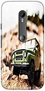Snoogg 4x4 offroad car Hard Back Case Cover Shield For Motorola G 3rd generation (Moto G3)