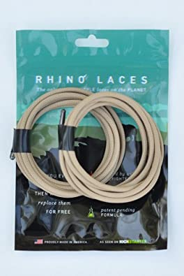 Rhino Laces - Unbreakable Shoelace- Coyote Tan - 2XLarge (1 Pair, 10-14 eyelets)
