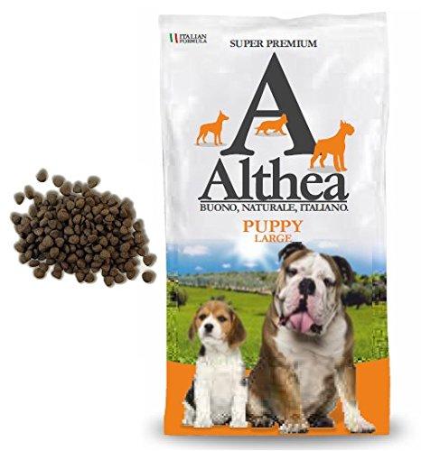 Althea Puppy Large 15 kg - Crocchette alla carne per cuccioli di cane di taglia media e grande, naturali al 100%