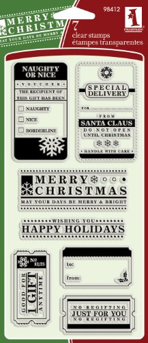 Inkadinkado Christmas Tag Wishes Clear Stamps
