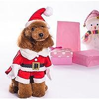 NEW Elf Pet Dog Cat Christmas Xmas Costume Santa Pet Apparel Three Dimensional Winter Clothes