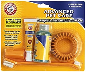 Arm and Hammer Fresh Breath and Whitening Complete Dental Care Kit, Includes Finger Brush and Toothbrush