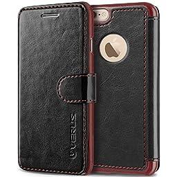 iPhone 6S Plus Case, Verus [Layered Dandy][Black] - [Premium Leather Wallet][Slim Fit] For Apple iPhone 6 6S Plus 5.5