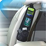 BXT 多機能 カーポケット 車座席 斜め掛けバッグ カーシートポケット メッシュポケット 置物ポケット ボトル スマホ iPad収納 小物収納ポケット おしゃれ カー用品 便利グッズ ブラック