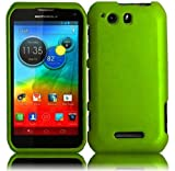 Motorola Photon Q XT897 Rubberized Cover - Neon Green