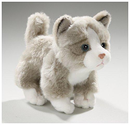 Katze stehend, grau aus Plüsch, ca. 13cm von