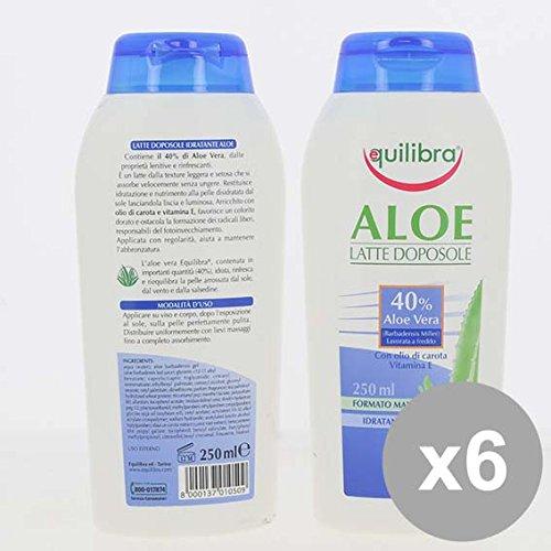 Set 6 EQUILIBRA Doposole Aloe 250Ml Creme solari e doposole e doposole