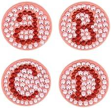 Bonjoc Swarovski Crystal Golf Ball Marker amp Hat Clip - Monogram Pink - Letter R