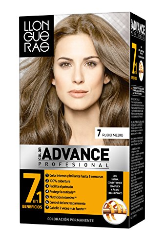 Llongueras Tintura per Capelli, Color Advance Hair Colour, 200 gr, 7-Medium Blond
