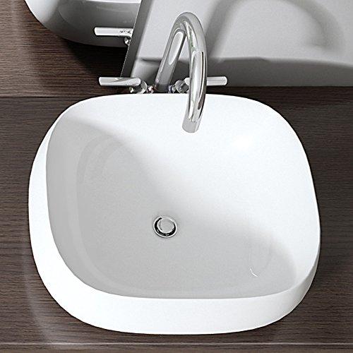 """Design Aufsatzwaschbecken """"Brüssel"""" aus Keramik"""