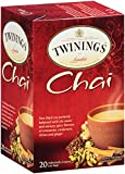 Twinings Chai Tea, Tea Bags, 20-Count Boxes (Pack of 6)