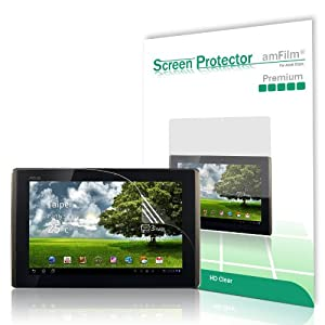 amCase Premium Screen Protector Film Clear (Invisible) for Asus EEE Pad Transformer 10.1 inch Touchscreen Tablet (TF101) (2 Pack)