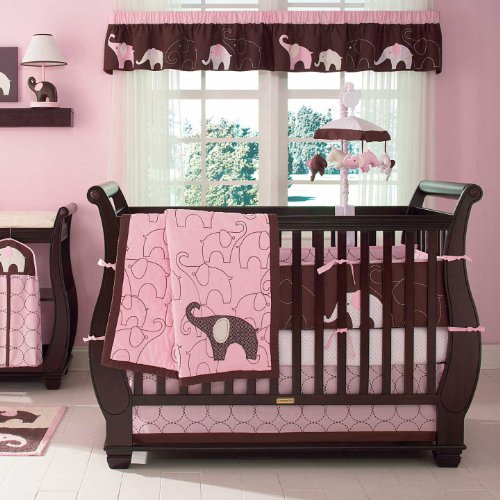 Carter's 4 Piece Crib Bedding Set, Pink Elephant (Discontinued by Manufacturer)
