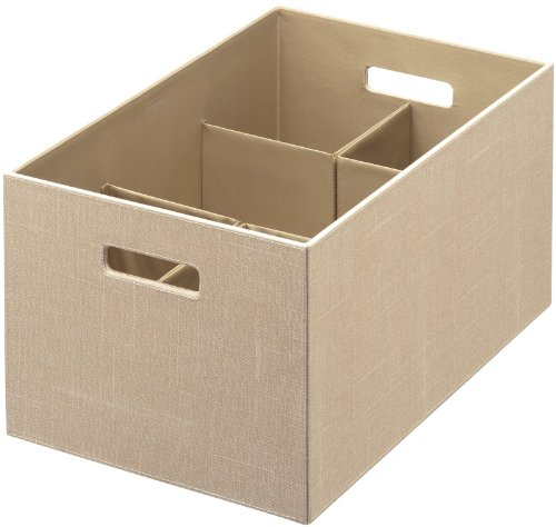 Rubbermaid Bento Storage Box with Flex Dividers, Extra Large, Loose Linen (1791949)