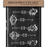 Dress My Cupcake DMCH017 Chocolate Candy Mold Assorted Lollipops Halloween