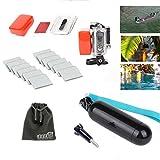 EEEKit 4in1 Diving Kit for Gopro HD Hero 3+, Floaty Back Door Case + Floating Hand Grip + Anti-fog Insert + EEEKit Pouch (Black)