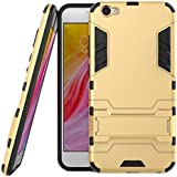 Yes2Good Graphic Designed Kick Stand Version 3.0 Hard Dual Rugged Armor Hybrid Bumper Back Case Cover For VIVO V5 / Vivo Y67 - Gold