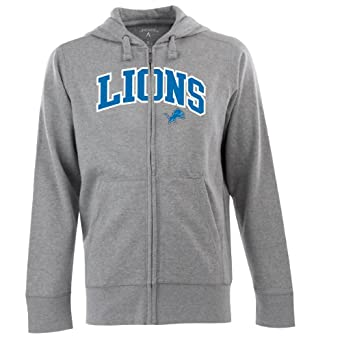 NFL Mens Detroit Lions Split Applique Full Zip Hood by Antigua