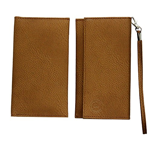 Jo Jo A5 G8 Leather Wallet Universal Pouch Cover Case For Apple iPhone 5S (16GB) Brown