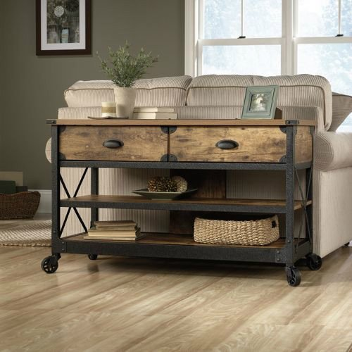 Rustic Vintage Country Coffee Table, End Table & TV Stand Set. This Rustic Living Room Set Will Bring That Restored Vintage Feel To Your Living Room