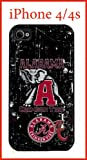 University Of Alabama NCAA Alabama Crimson Tide iPhone 4 4s Case Hard Silicone Case