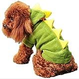 しあわせ倉庫 ペット用 コスプレ 仮装 衣装 服 ドラゴン犬 犬 猫 ハロウィン クリスマス パーティー イベント 散歩 (グリーン S)