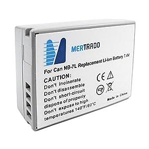 Mertrado - NB-7L - Batterie lithium-ion pour Canon - 1050 mAh