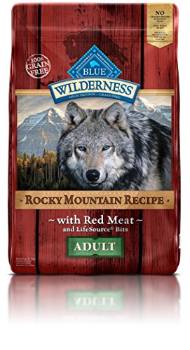 Blue Buffalo Wilderness Adult Rocky Mtn Recipes Red Meat - Grain Free 22 lb