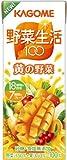 (お徳用ボックス)カゴメ 野菜生活100黄の野菜 200ml×24本