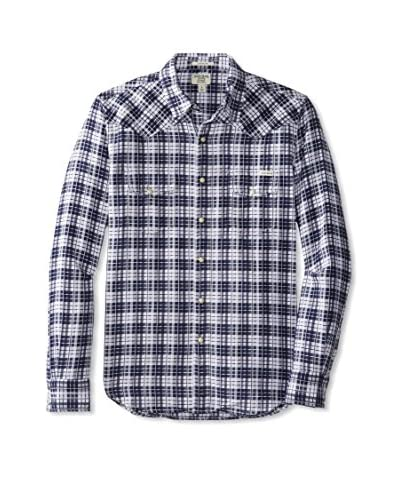 Lucky Brand Men's Mammoth Plaid Western Shirt