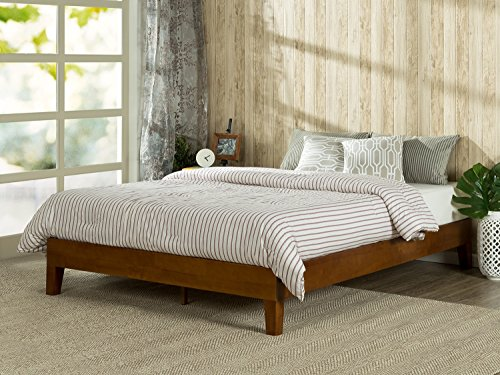 Zinus 12 Inch Deluxe Solid Wood Platform Bed / No Boxspring needed / Wood Slat Support, Queen (Wood Slat Bed compare prices)