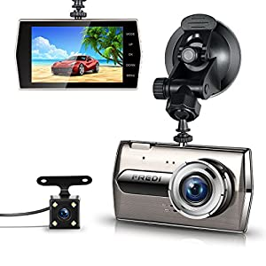 FREDI 超高画質前後カメラドライブレコーダー 1080FHD多機能車載カメラDrive Recorder G-sensor 170度広角ドラレコ
