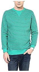 UV&W Men's Fleece Sweatshirt (MFTCK17_S_Green, Green Small)