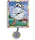 Hey Diddle Diddle, Cow Jumped Over the Moon Pendulum Clock