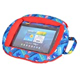 Sonic Beanie Universal Protective Case Cover with Zip Closing for 7-10 Inch Tablet Compatible with iPad 2/3/4/Air/Mini - Blue/Red